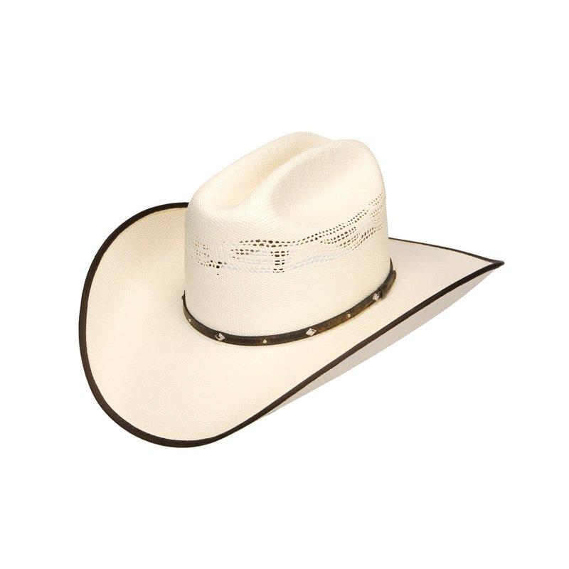 Bangora Straw Hat: Straw Hat By Wrangler Bangora Buckhorn 20X, 59,00