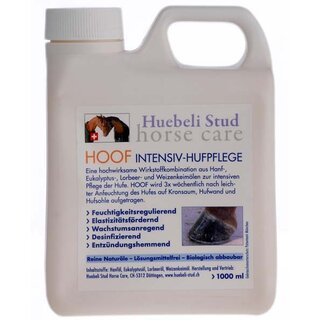 Hoof Oil Hoof Care Huebeli Stud Horse 1000ml with Brush