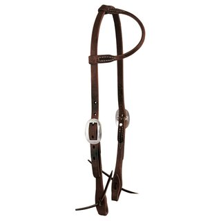One Ear Headstall US dark harness leather