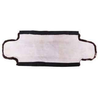 Saddle cinch cover made of lambskin