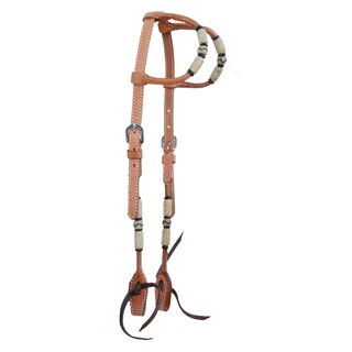 Two Ear Headstall rawhide braided