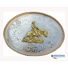 Belt Buckle by Montana Silversmiths Sliding Horse