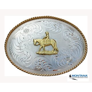 Belt Buckle by Montana Silversmiths western riding oval