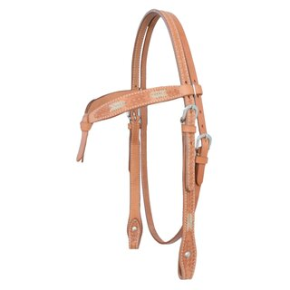Headstall braided with basket