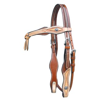 Headstall with Basket and knot Headband two-tone