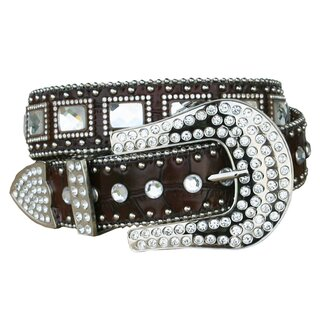 Belt for Ladies with Rhinestones and Glas