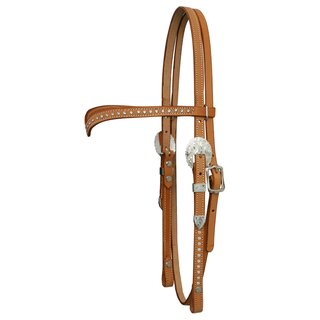 Headstall for Show with Swarowskis straight