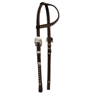 One Ear Headstall with small cheekpiece and Swarovski