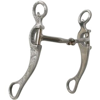 Show Snaffle Bit Alu engraved