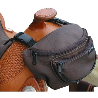 Saddle bag for fork in two colours