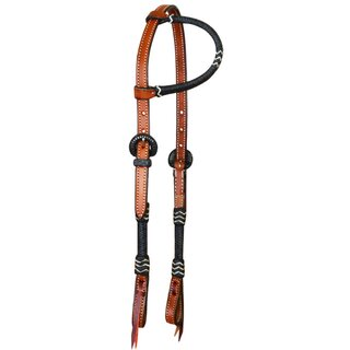 One ear Headstall with brading